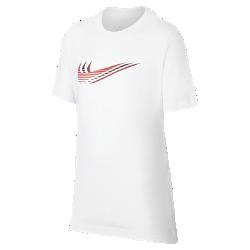 最新2020年2月新着!<ナイキ(NIKE)公式ストア>ナイキ スポーツウェア ジュニア Tシャツ CU4572-100 ホワイト画像