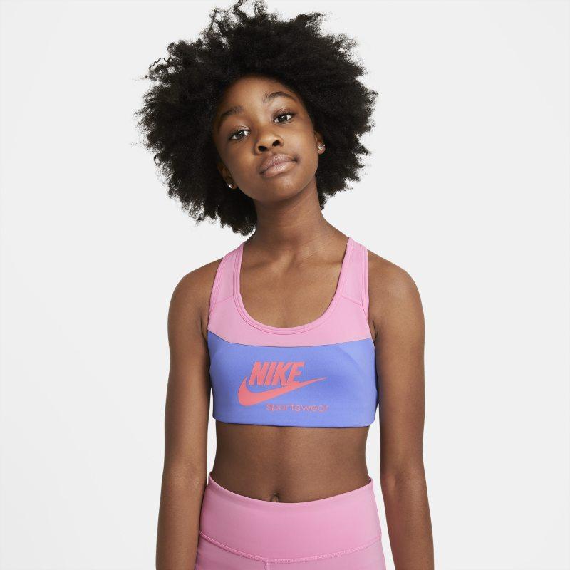 Nike Swoosh Sujetador deportivo - Niña - Rosa