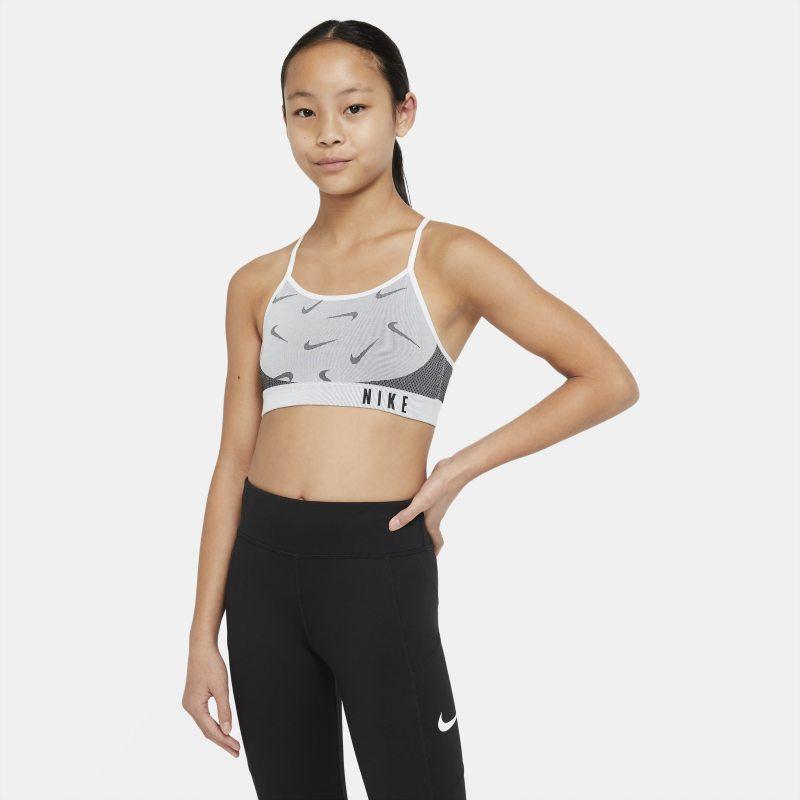 Nike Indy Sujetador deportivo - Niña - Blanco