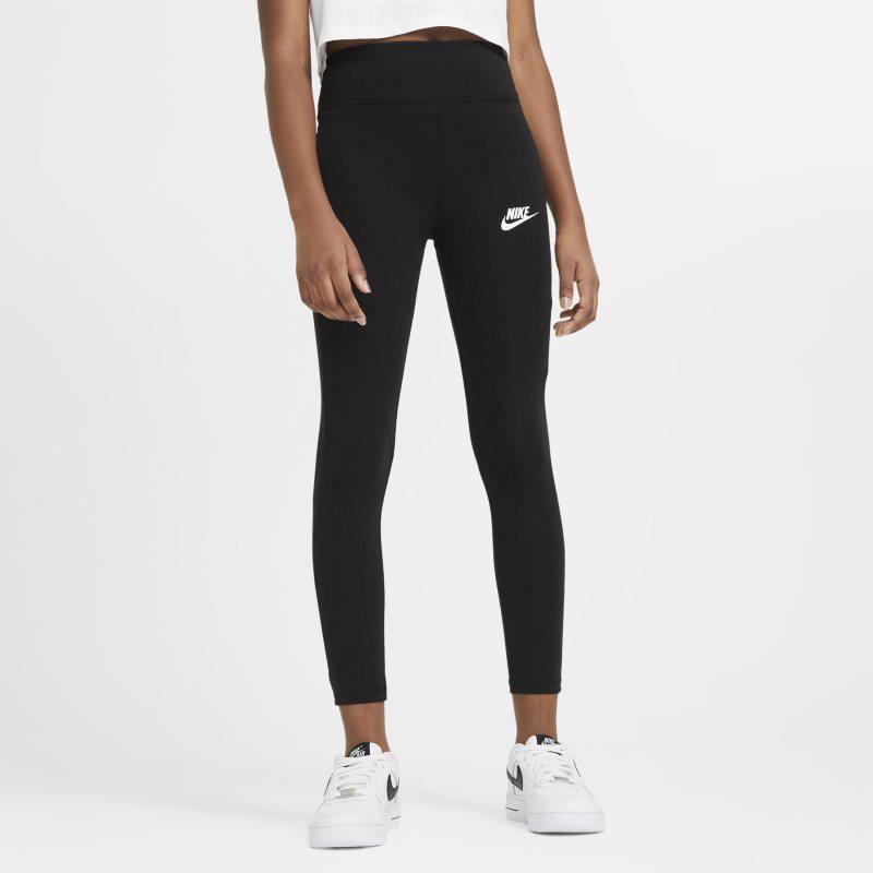 Nike Sportswear Favorites Legging met hoge taille voor meisjes - Zwart