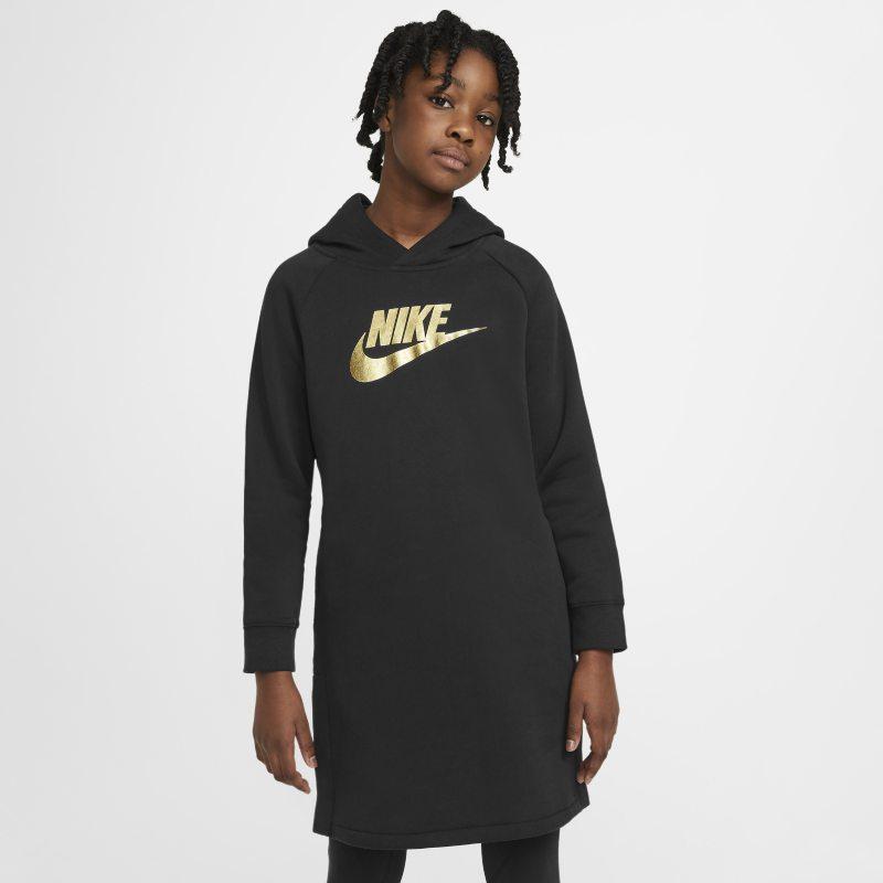 Nike Sportswear Hoodiejurk voor meisjes - Zwart