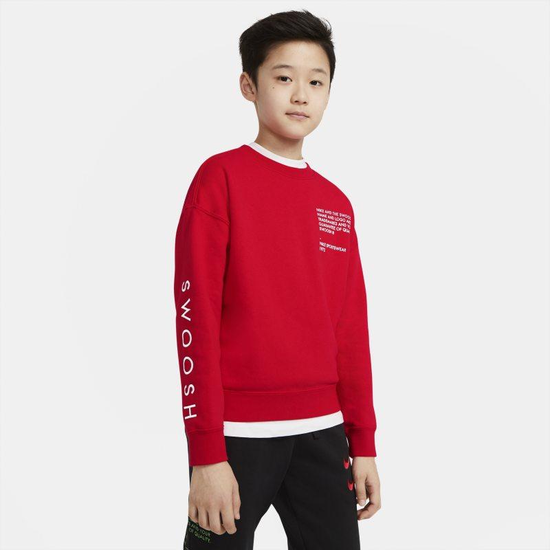 Nike Sportswear Swoosh Jongenstop met ronde hals - Rood