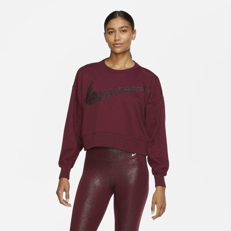 Nike Dri-FIT Get Fit Sparkle Trainingstop van fleece voor dames - Rood