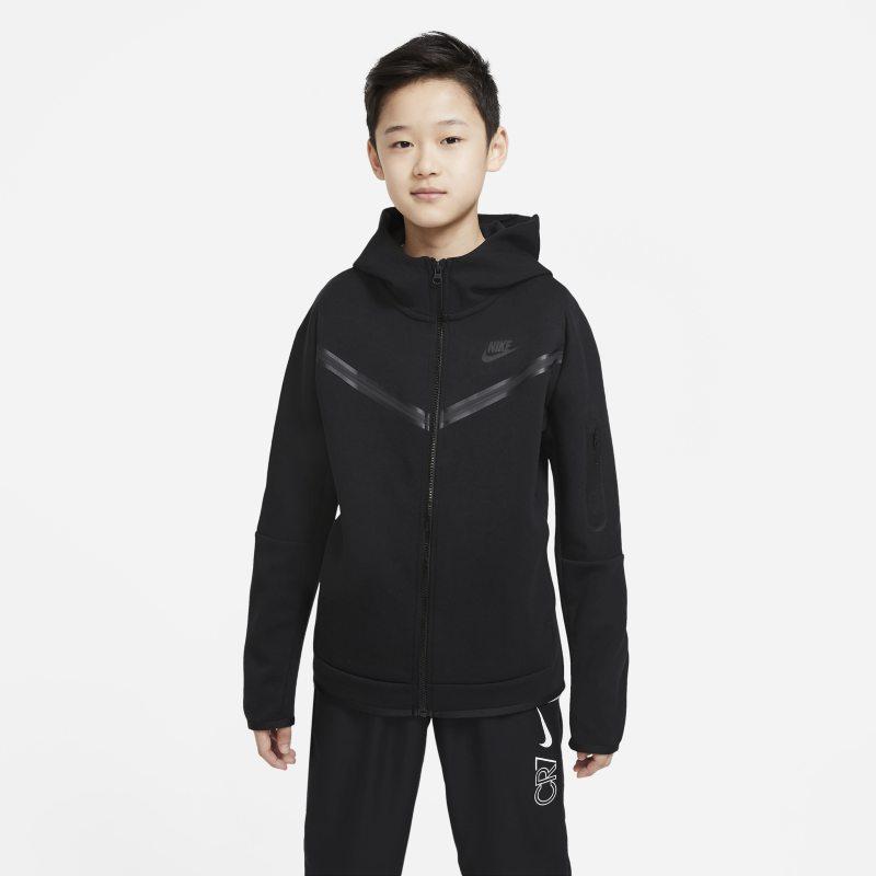 Nike Sportswear Tech Fleece Hoodie met rits voor jongens - Zwart