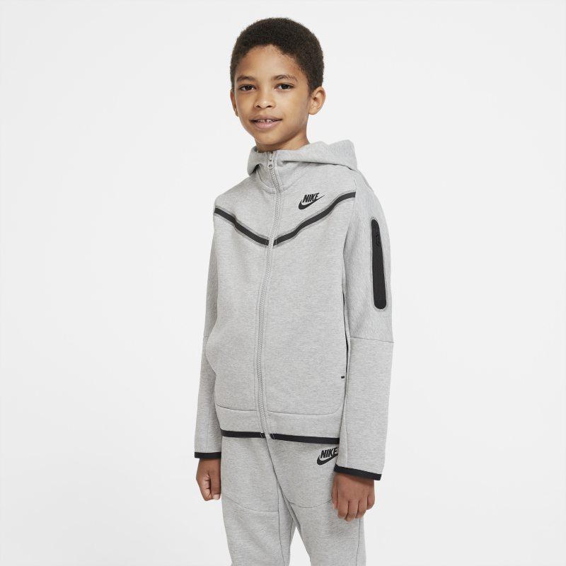 Nike Sportswear Tech Fleece Hoodie met rits voor jongens - Grijs