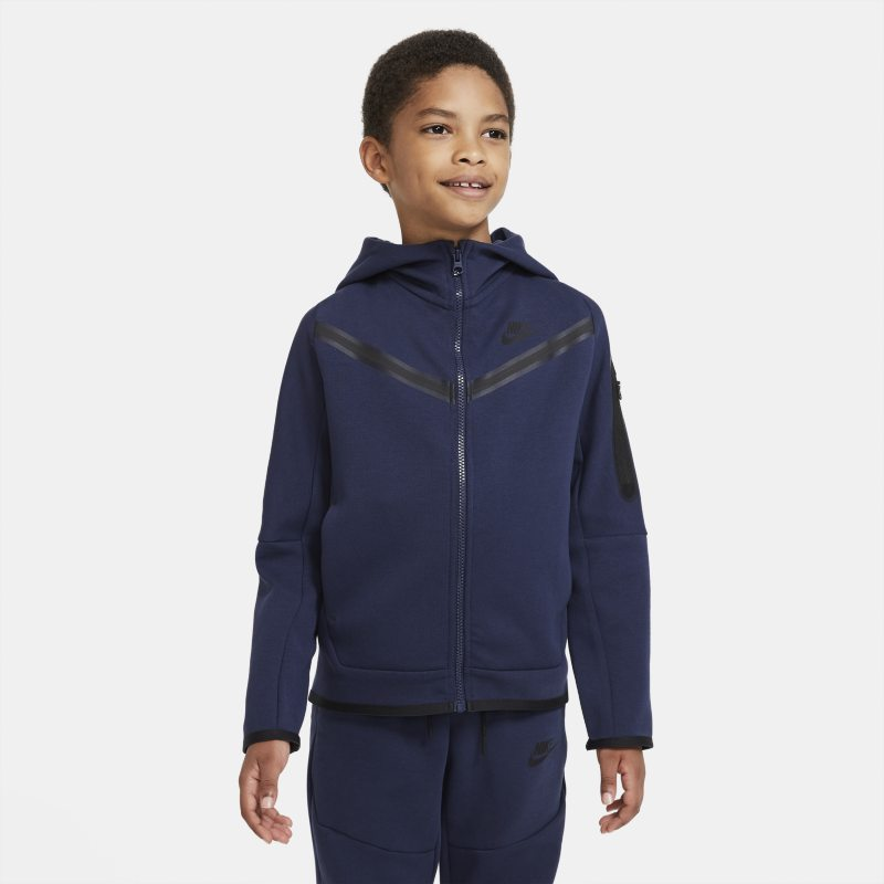 Nike Sportswear Tech Fleece Hoodie met rits voor jongens - Blauw