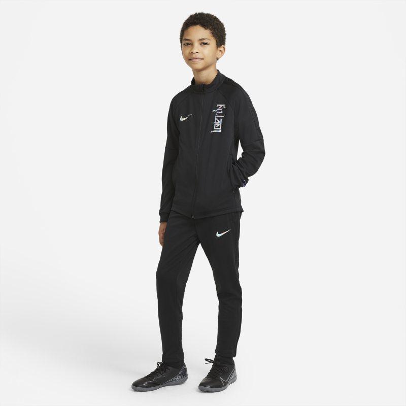Nike Dri-FIT Kylian Mbappé Knit voetbaltrainingspak voor kids - Zwart