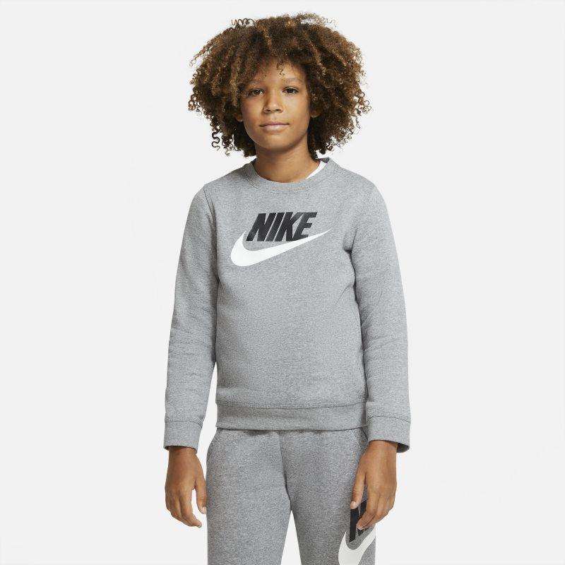 Nike Sportswear Club Fleece Jongenstop met ronde hals - Grijs