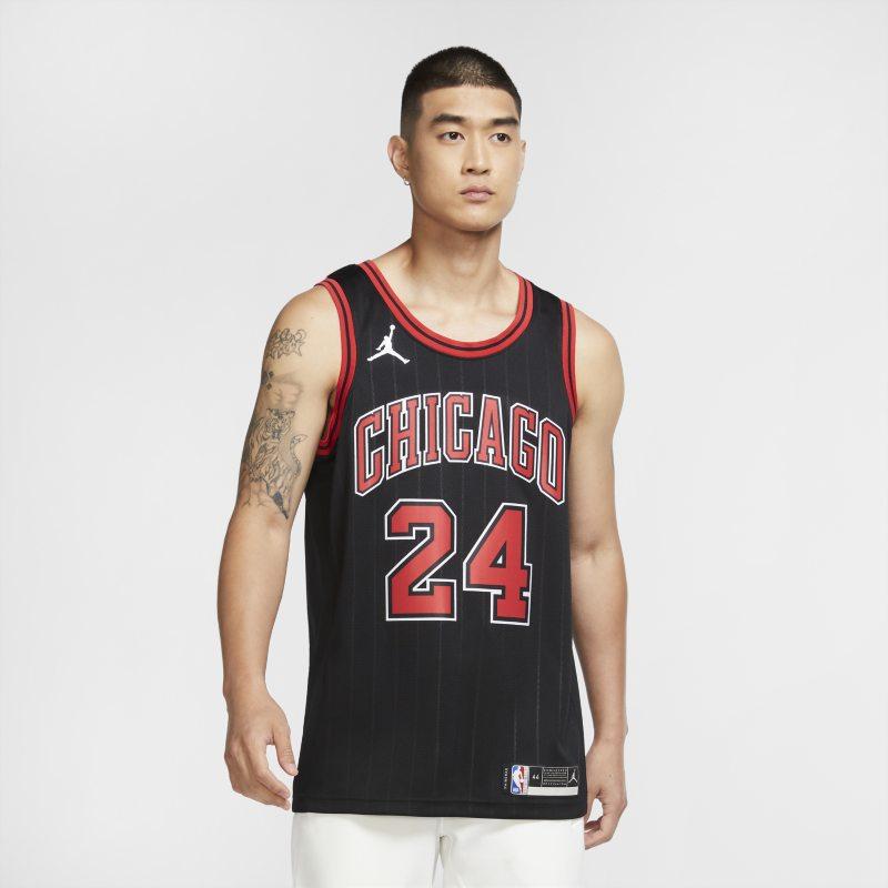 Lauri Markkanen Bulls Statement Edition 2020 Swingman Jordan NBA-jersey - Zwart