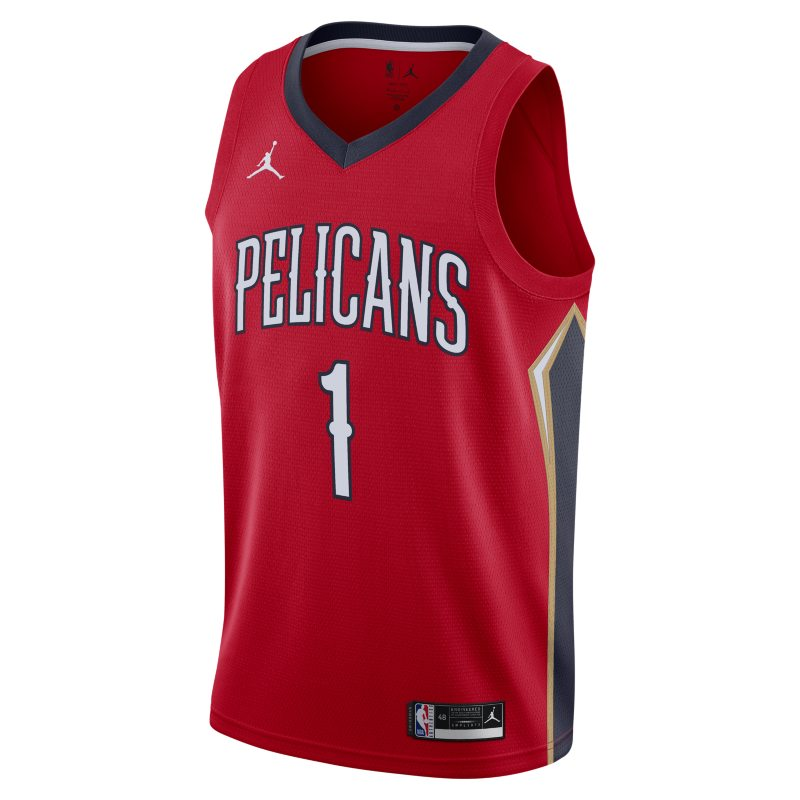 New Orleans Pelicans Pelicans Statement Edition 2020 Swingman Jordan NBA-jersey - Rood