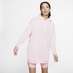 最新2020年2月新着!<ナイキ(NIKE)公式ストア>ナイキ スポーツウェア ウィメンズ プルオーバー パーカー ドレス CW0310-600 ピンク画像