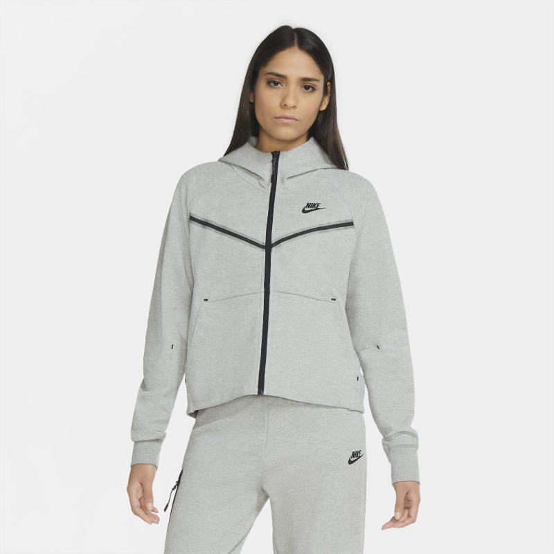 Nike Sportswear Tech Fleece Windrunner Hoodie met rits voor dames - Grijs