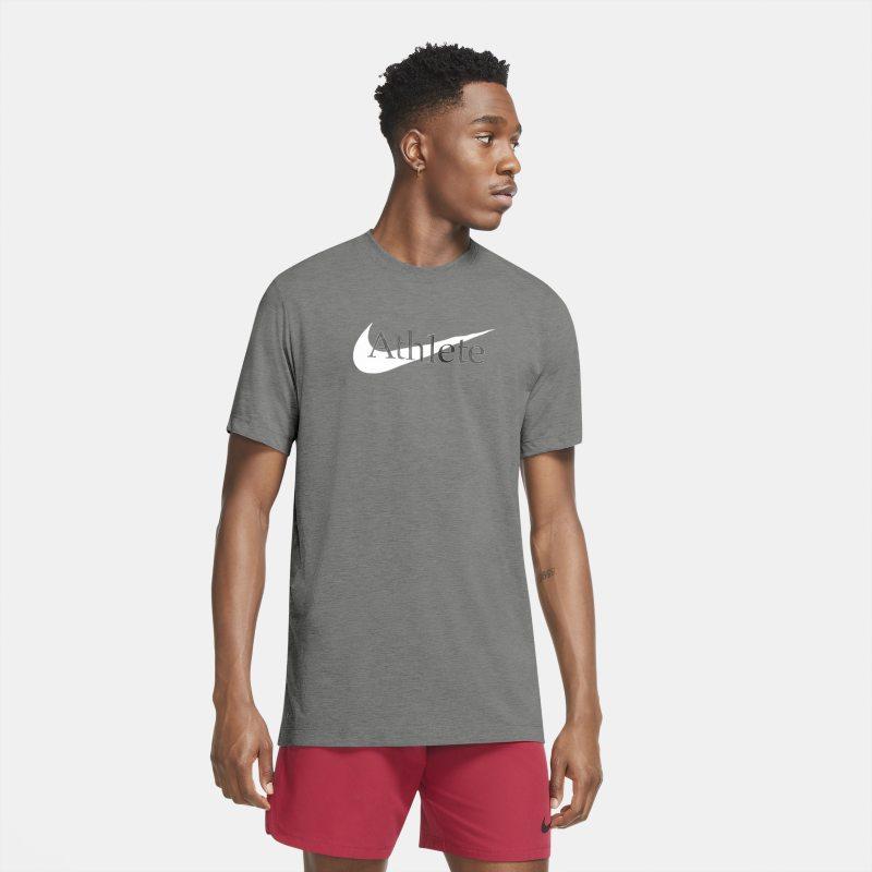 Nike Dri-FIT Trainingsshirt met Swoosh voor heren - Grijs