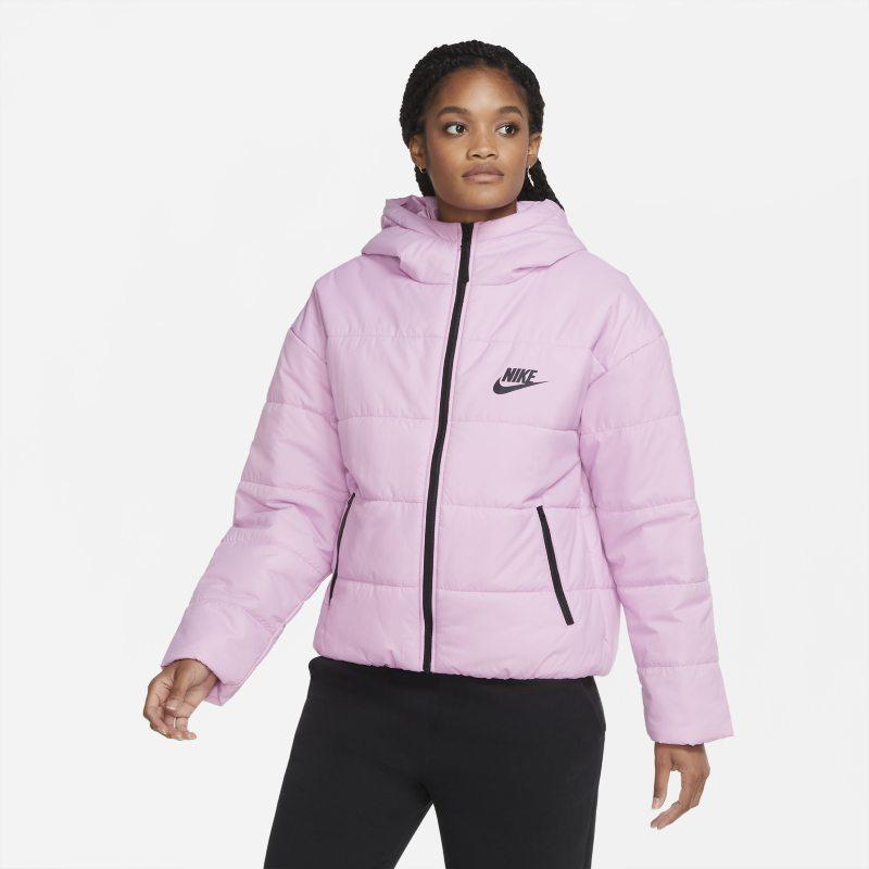 Nike Gewatteerd jack met swoosh op de achterkant in zachtroze online kopen