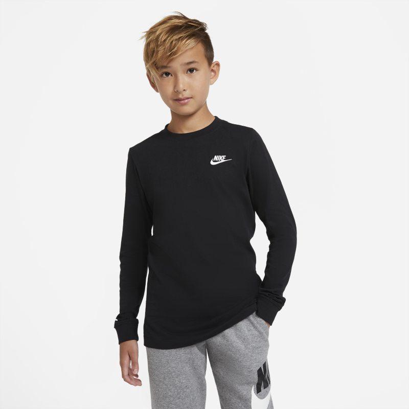Nike Sportswear T-shirt met lange mouwen voor jongens - Zwart