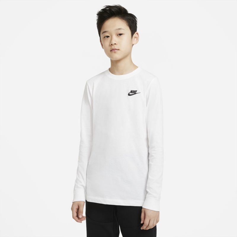 Nike Sportswear T-shirt met lange mouwen voor jongens - Wit