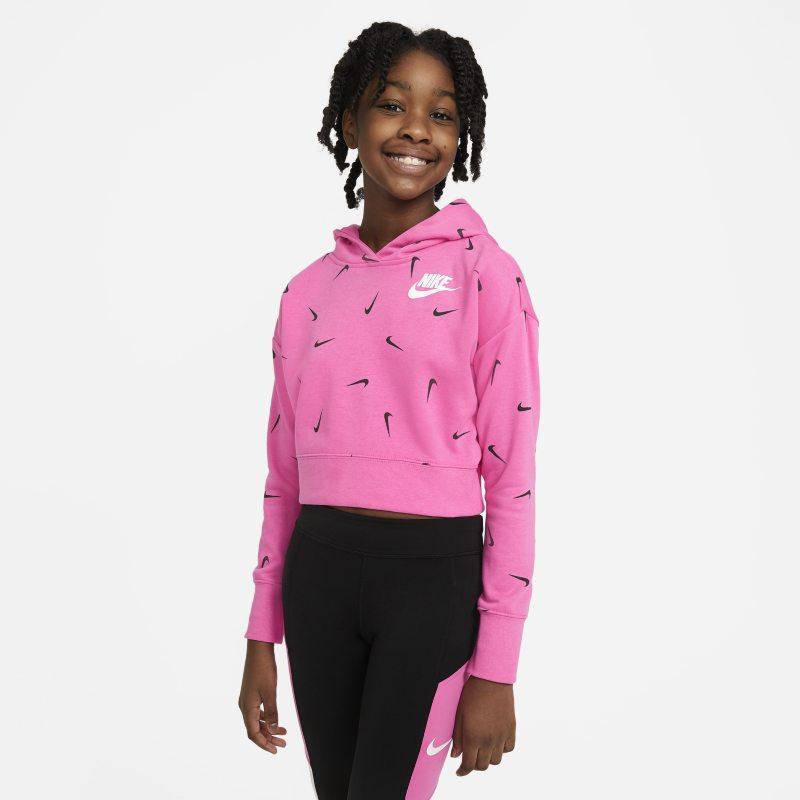 Nike Sportswear Korte hoodie van sweatstof voor meisjes - Roze