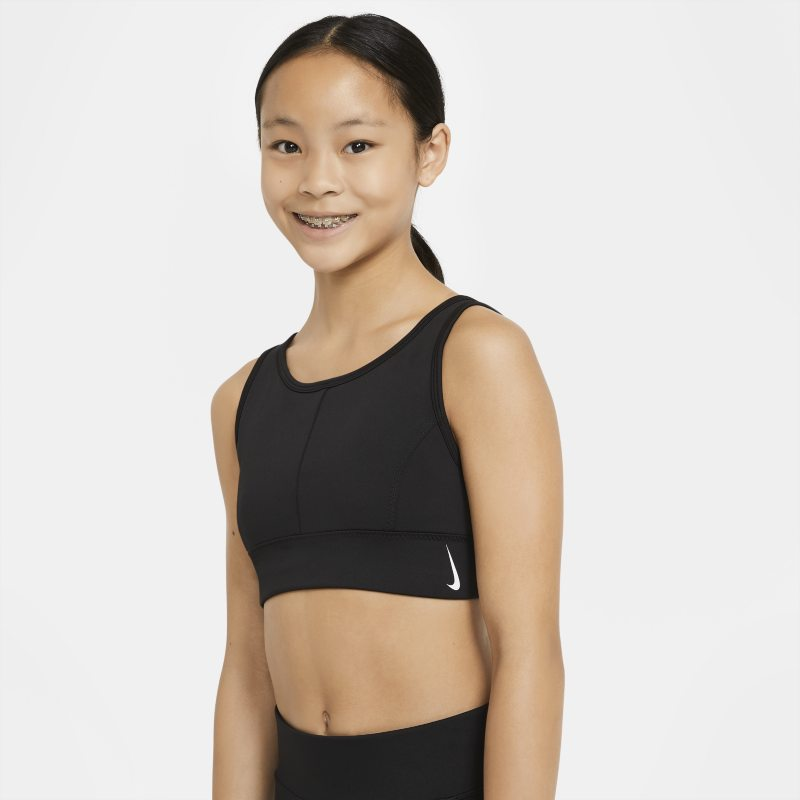 Nike Swoosh Luxe Sujetador deportivo de escote alto - Niña - Negro