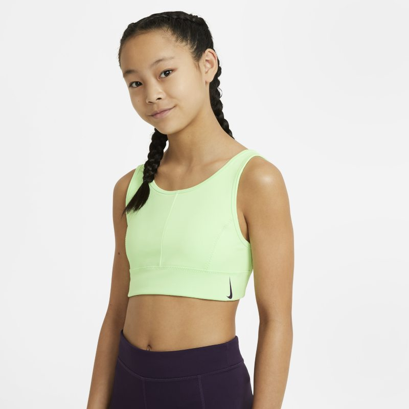 Nike Swoosh Luxe Sujetador deportivo de escote alto - Niña - Verde