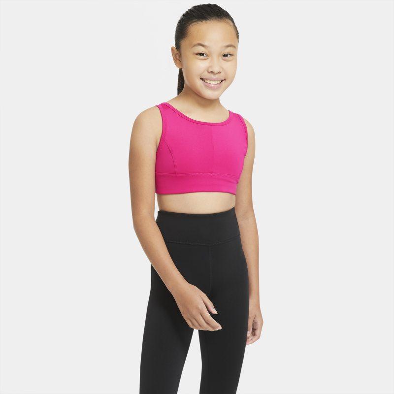 Nike Swoosh Luxe Sujetador deportivo de escote alto - Niña - Rosa
