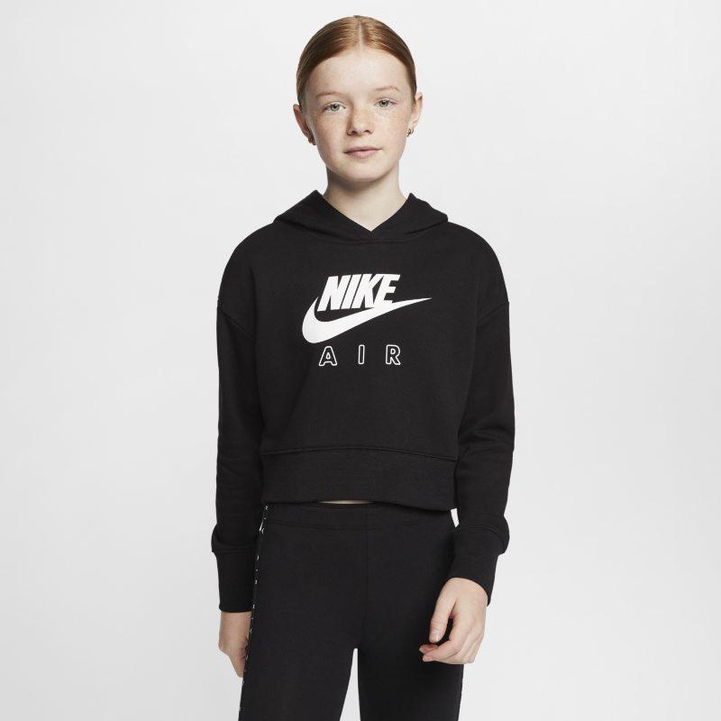Nike Air Korte hoodie van sweatstof voor meisjes - Zwart