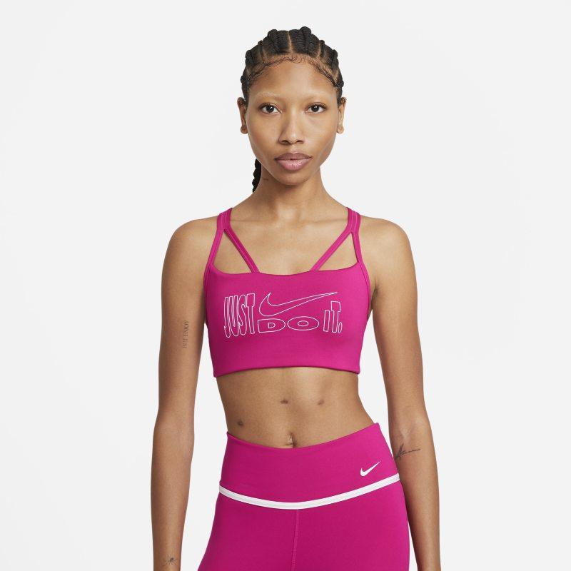 Nike Dri-FIT Indy Icon Clash Sujetador deportivo de sujeción ligera con acolchado y tirantes - Mujer - Rojo