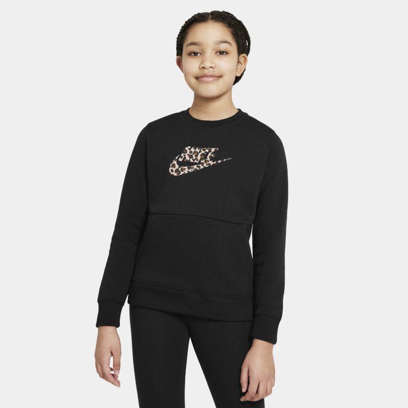 Nike Sportswear Meisjesshirt met ronde hals - Zwart