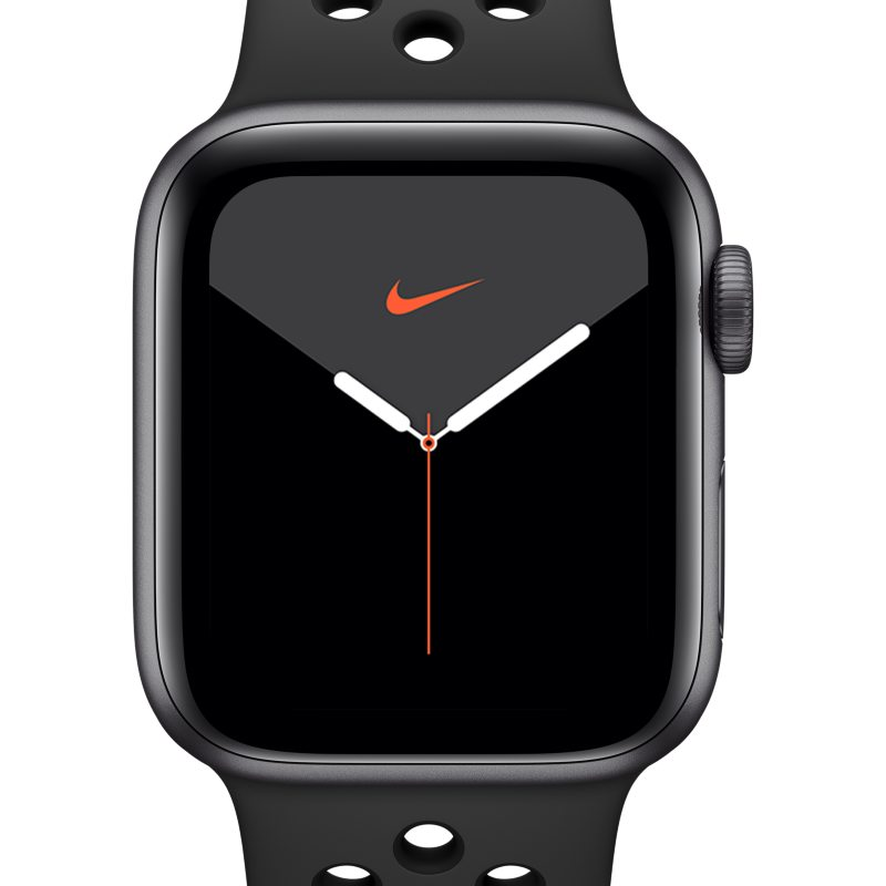Nike Apple Watch Nike Series 5 (GPS) with Nike Sport Band 44mm Space Grey Aluminium Case - Black
