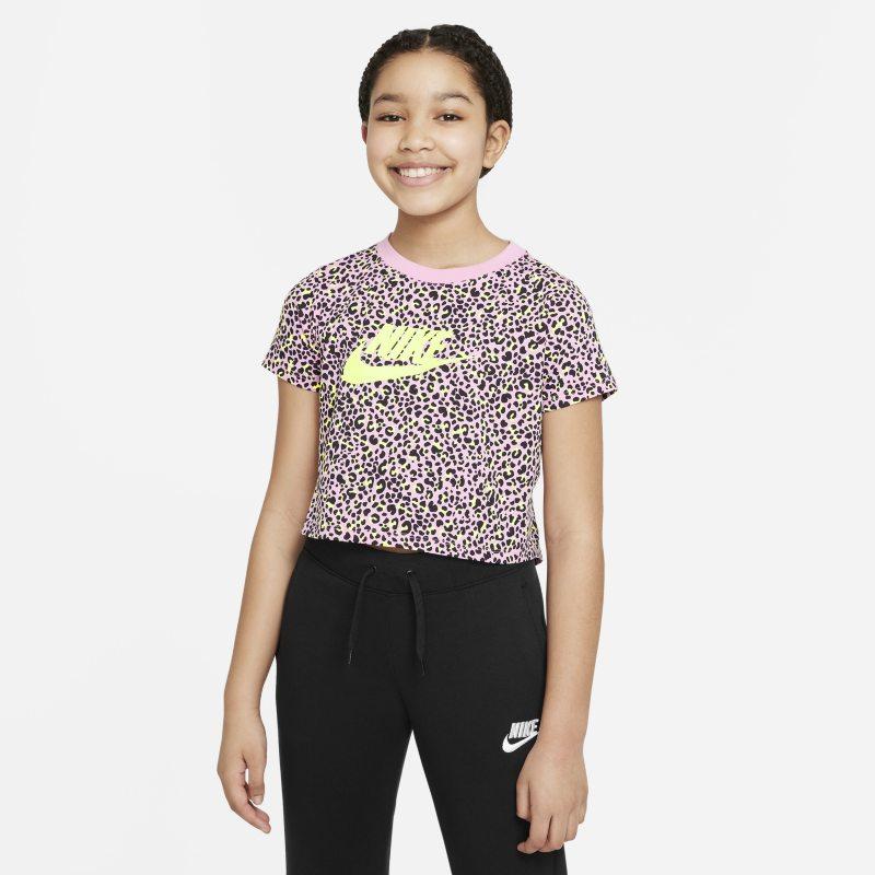 Nike Sportswear Croptop met print voor meisjes - Roze