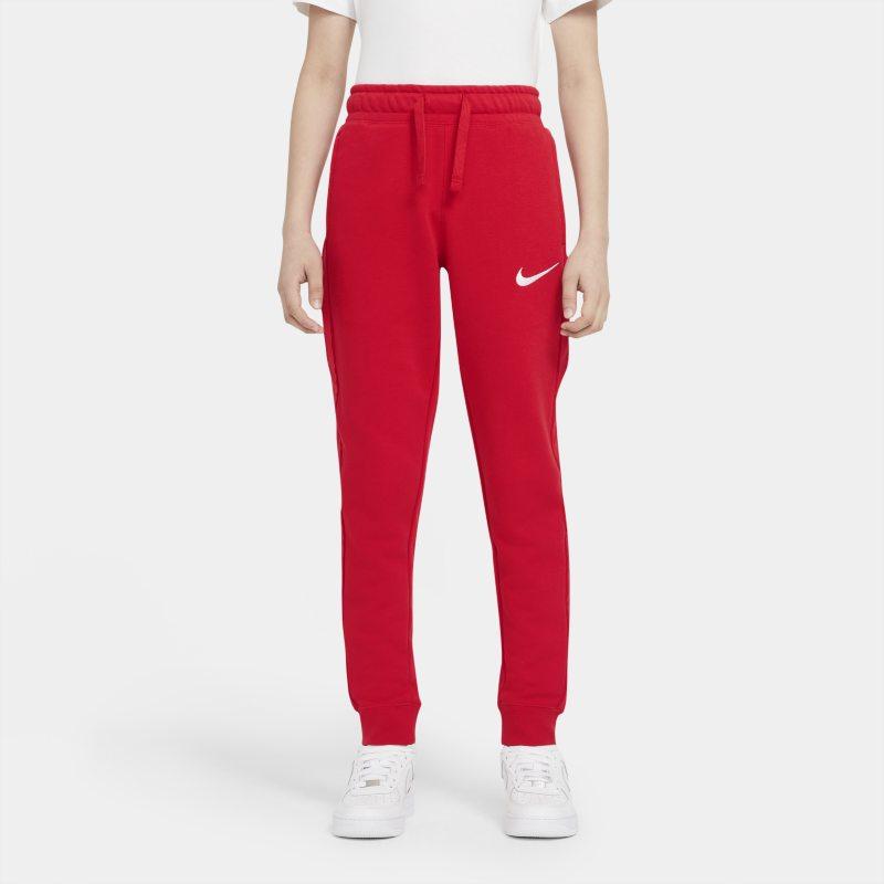 Nike Sportswear Swoosh Fleecebroek voor jongens - Rood