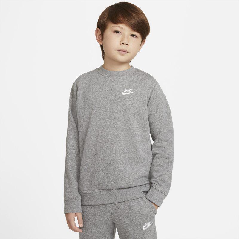 Nike Sportswear Jongensshirt van sweatstof met ronde hals - Grijs
