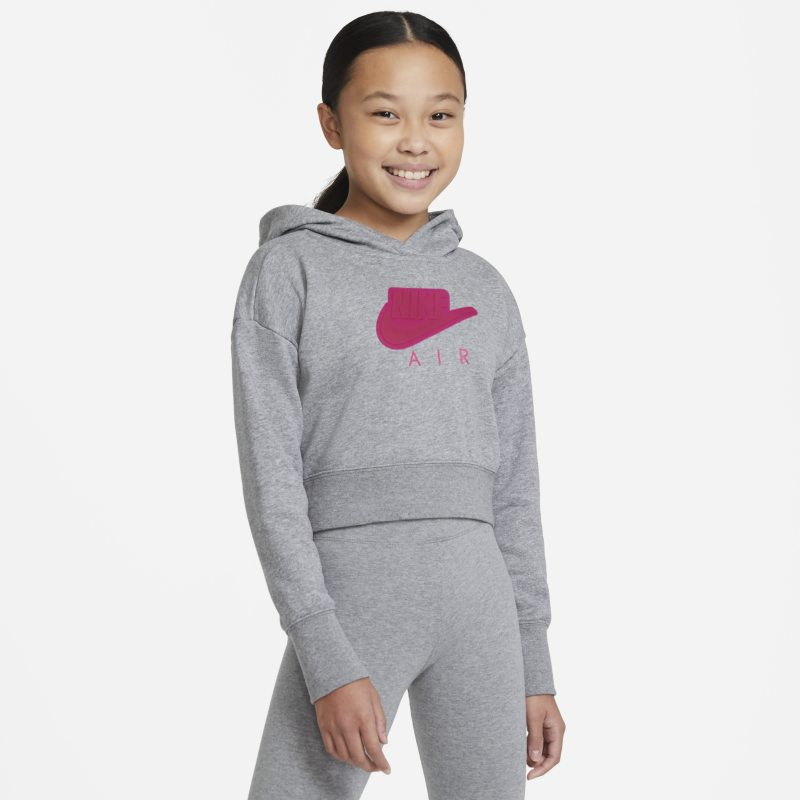 Nike Air Korte hoodie van sweatstof voor meisjes - Grijs