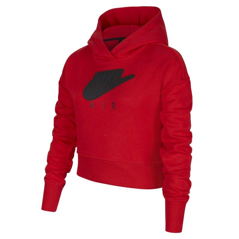 Nike Air Korte hoodie van sweatstof voor meisjes - Rood