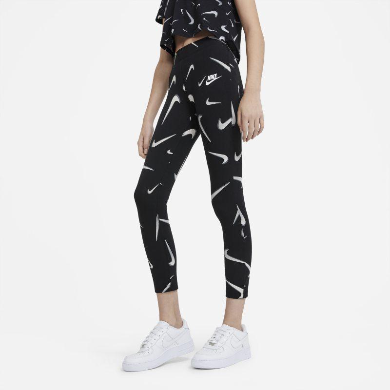 Nike Sportswear Favorites Legging met print voor meisjes - Zwart