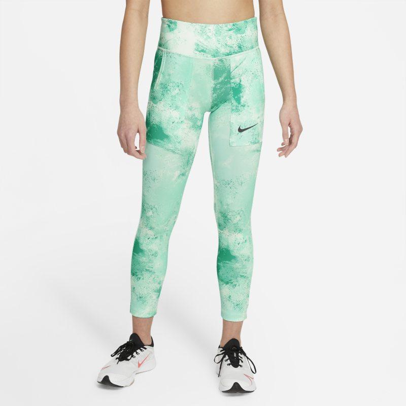 Nike One Legging met tie-dye-print voor meisjes - Groen