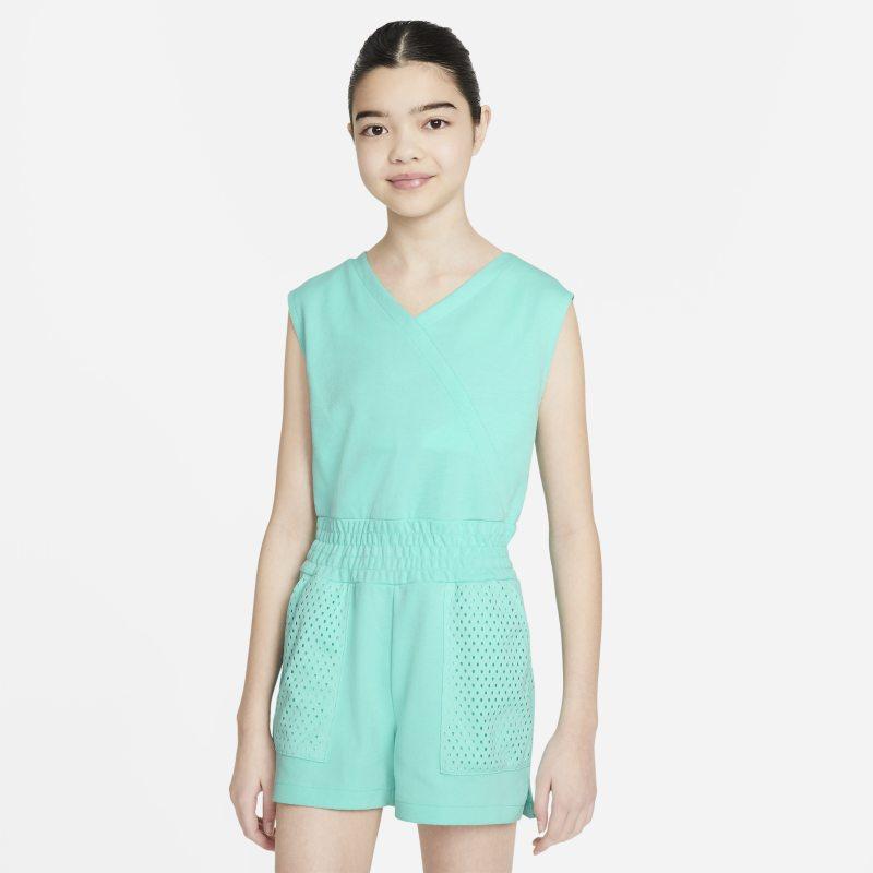 Nike Dri-FIT Trainingsplaysuit voor meisjes - Groen