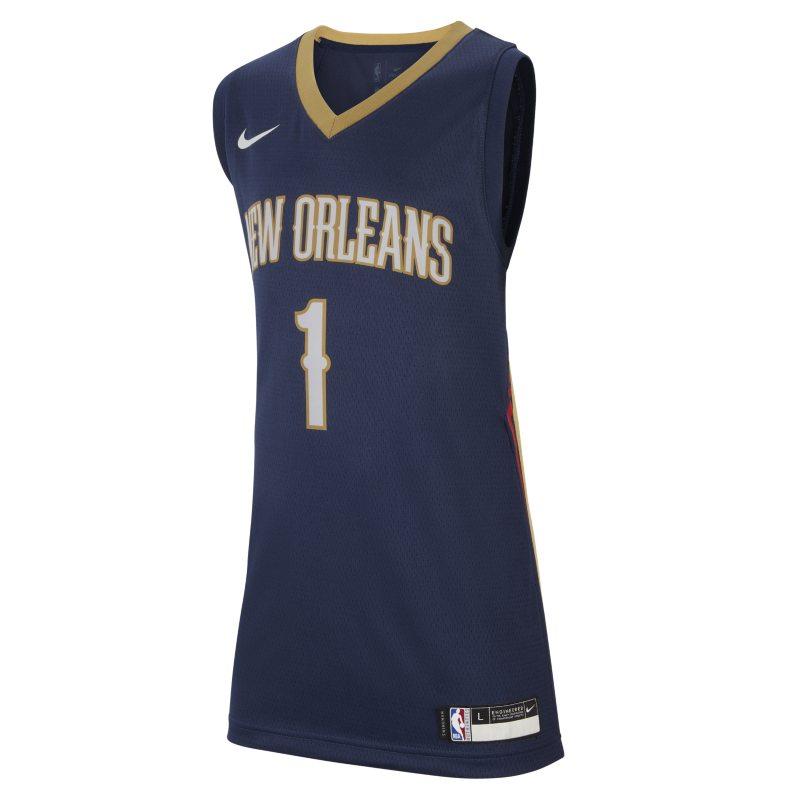 Pelicans Icon Edition Nike NBA Swingman Trikot für ältere Kinder – Blau