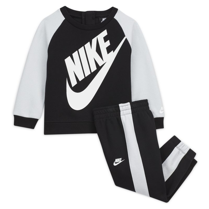 Set med tröja med rund hals och byxor för baby Nike (12-24 mån) - Svart