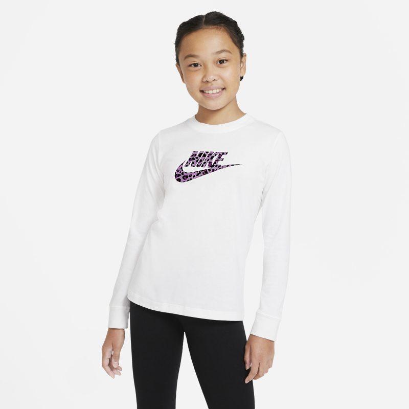 Nike Sportswear T-shirt met lange mouwen voor meisjes - Wit