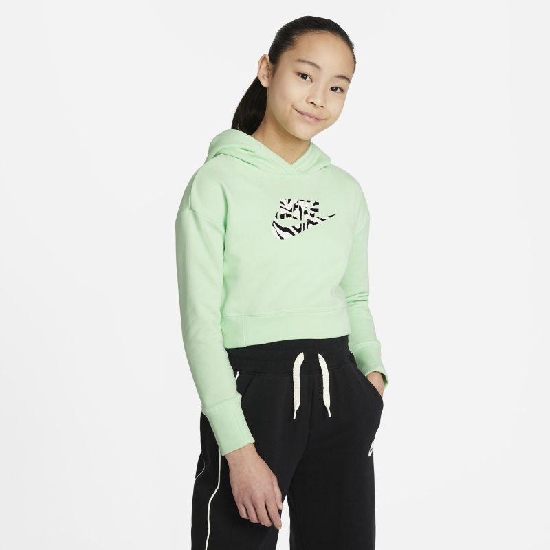 Nike Sportswear Korte hoodie voor meisjes - Groen
