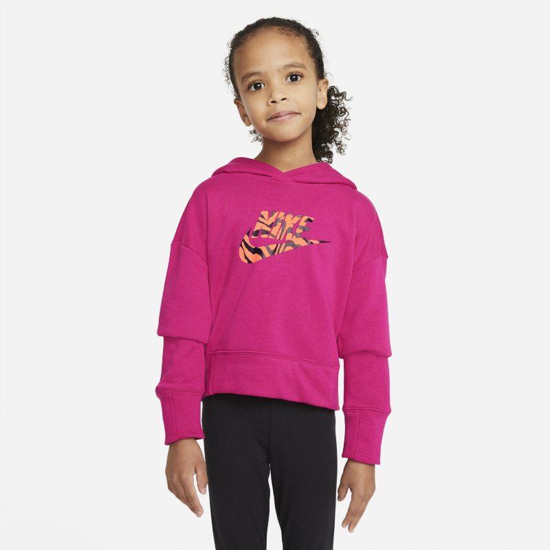 Nike Sportswear Korte hoodie voor meisjes - Rood