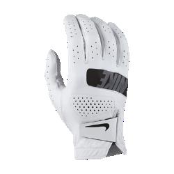 Мужская перчатка для гольфа (на правую руку, стандартный размер) Nike TourМужская перчатка для гольфа Nike Tour из мягкой кожи с перфорацией в области пальцев обеспечивает полный комфорт и усиленную вентиляцию. Отводящая влагу конструкция не позволяет ладони скользить, обеспечивая комфорт при каждом свинге.<br>