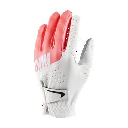 Женская перчатка для гольфа Nike Sport (на левую руку, стандартный размер)Женская перчатка для гольфа Nike Sport с накладками из высококачественной кожи на ладони и перфорацией в области пальцев обеспечивает первоклассный комфорт и усиленную вентиляцию. Отводящая влагу конструкция не позволяет ладони скользить, обеспечивая комфорт при каждом свинге.<br>