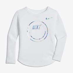 Nike Happy Face Modern Younger Kids' (Girls') Long-Sleeve T-Shirt