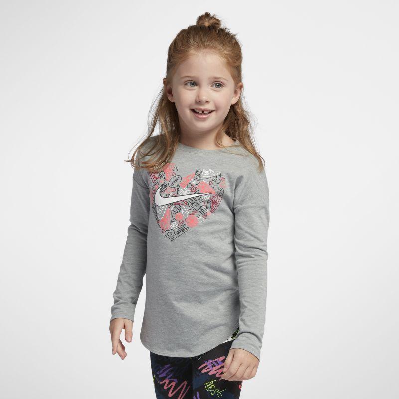 Nike Younger Kids'Long-Sleeve T-Shirt - Grey
