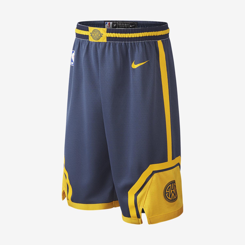 607224963 GOLDEN STATE WARRIORS CITY EDITION SWINGMAN. Older Kids  Nike NBA Shorts