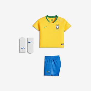 39395f0ae 2018 Brazil CBF Stadium Home Baby   Toddler Football Kit. Nike.com UK