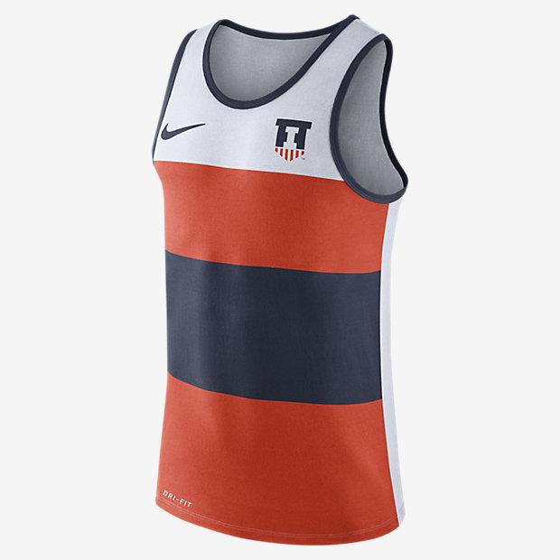 Low Resolution Nike College Dry Wide Stripe (Illinois) Men's Tank
