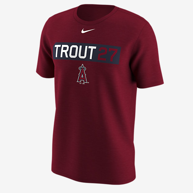 ... Nike Legend Name and Number (MLB Angels / Mike Trout) Men's Training  Shirt
