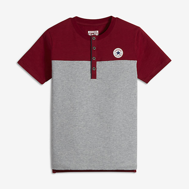 Converse Pocket Henley Big Kids' (Boys') T-Shirt. Nike.com